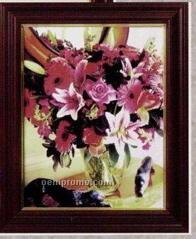 "Queen Ann Cherry Gold Inlay Frame - Matted (8""X10"")"