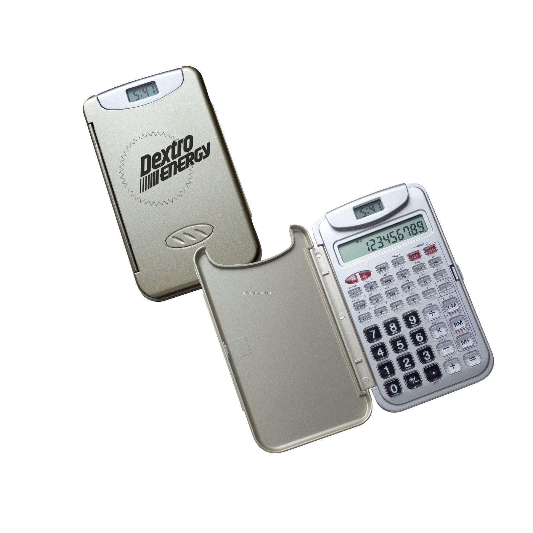 Scientific Calculator W/Lcd Clock