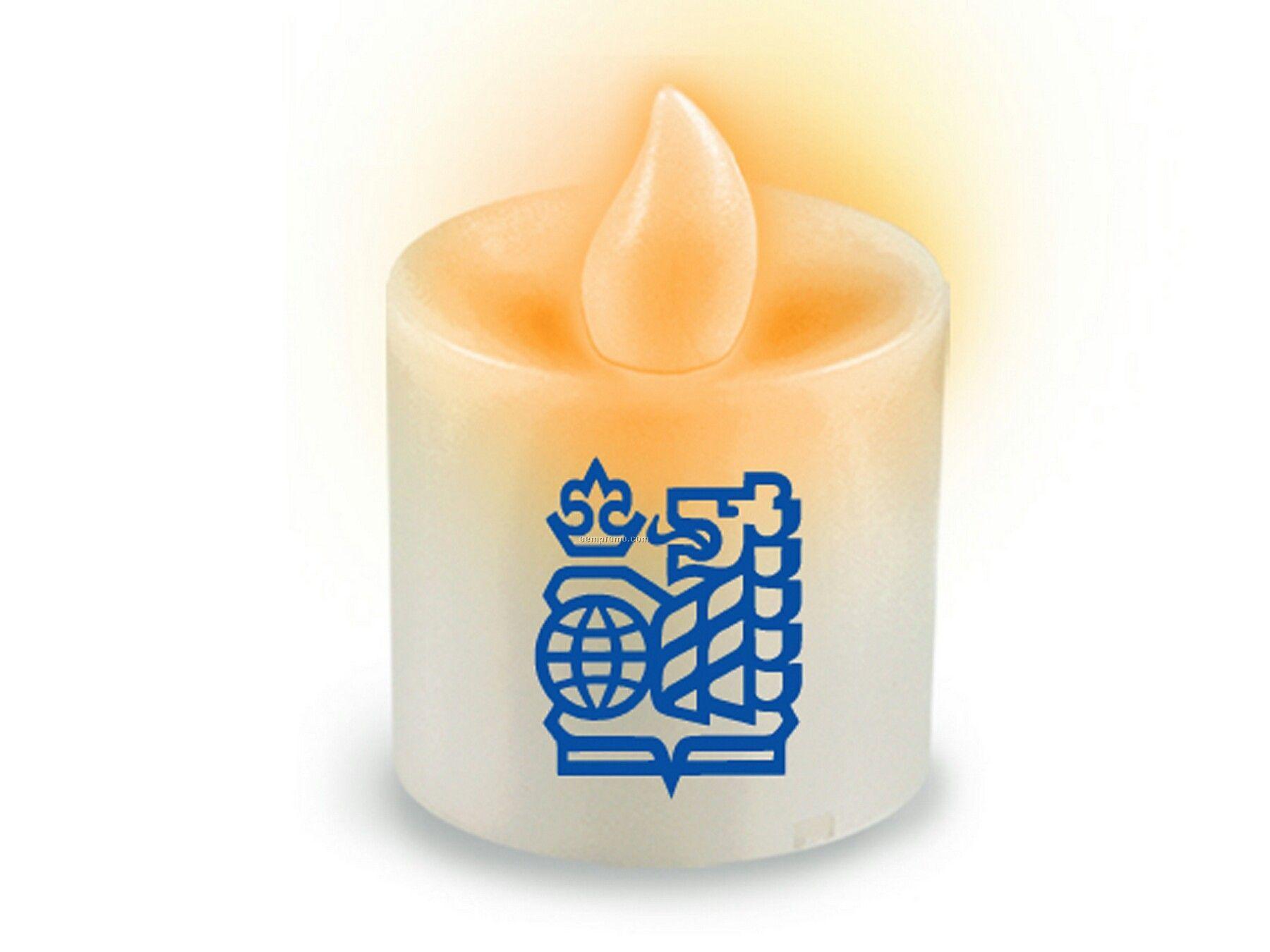 Votive LED Candle - Flickering Amber LED Flame