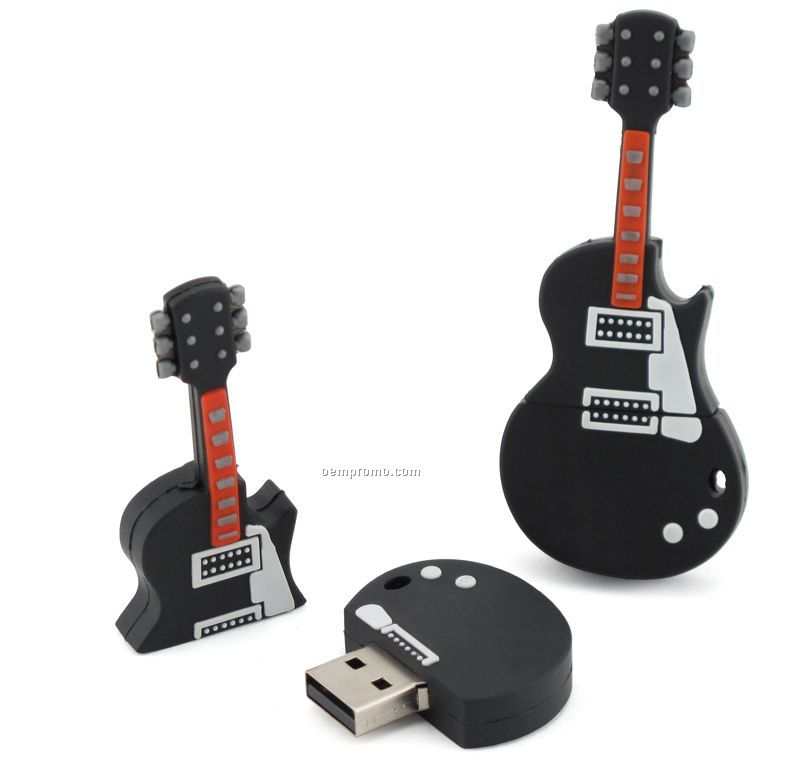 2 Gb Pvc Guitar USB Drive