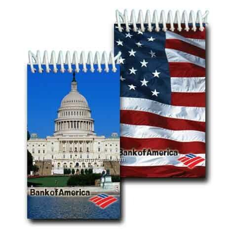 3d Lenticular Mini Notebook Stock/Capitol Hill (Imprinted)