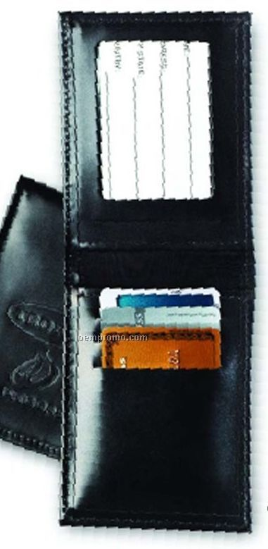 Flip I.d. And Credit Card Case - Top Grain Cowhide Leather