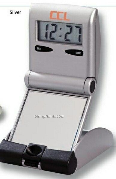 Raise Up Alarm Clock W/ Mirror