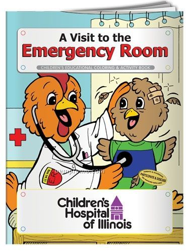 Action Pack Coloring Book W/Crayons & Sleeve- A Visit To The Emergency Room