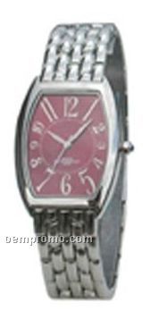 Cititec Ladies Analog Quartz Watch (Silver W/ Oval Face)