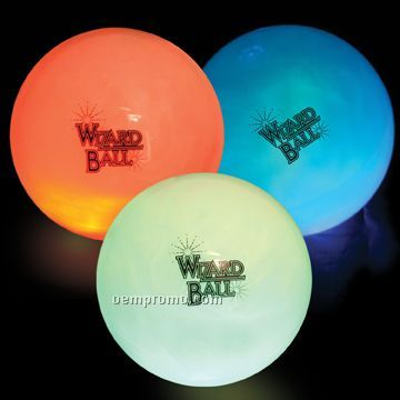 "Mondo Hi-bounce Light Up Wizard Water Ball (4"")"