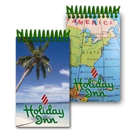 3d Lenticular Mini Notebook Stock/Palm Tree On Beach (Custom)