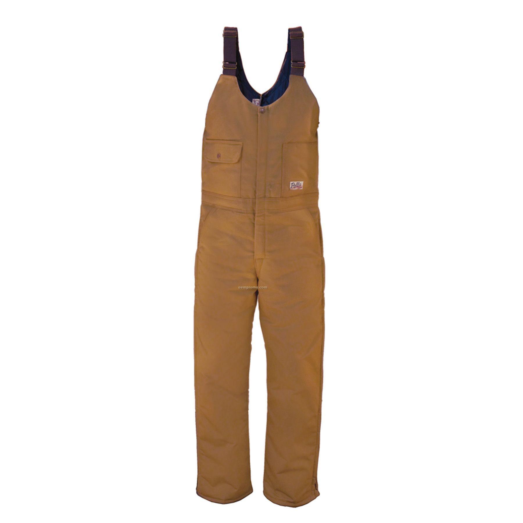 """12 Oz. Duck Bib Overall W/ Hip Length Zipper - 44"""" To 46"""" Waist"""