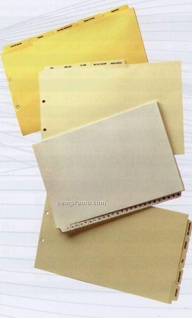 Custom Legal Paper Index Tab (8 Tabs/ Set)