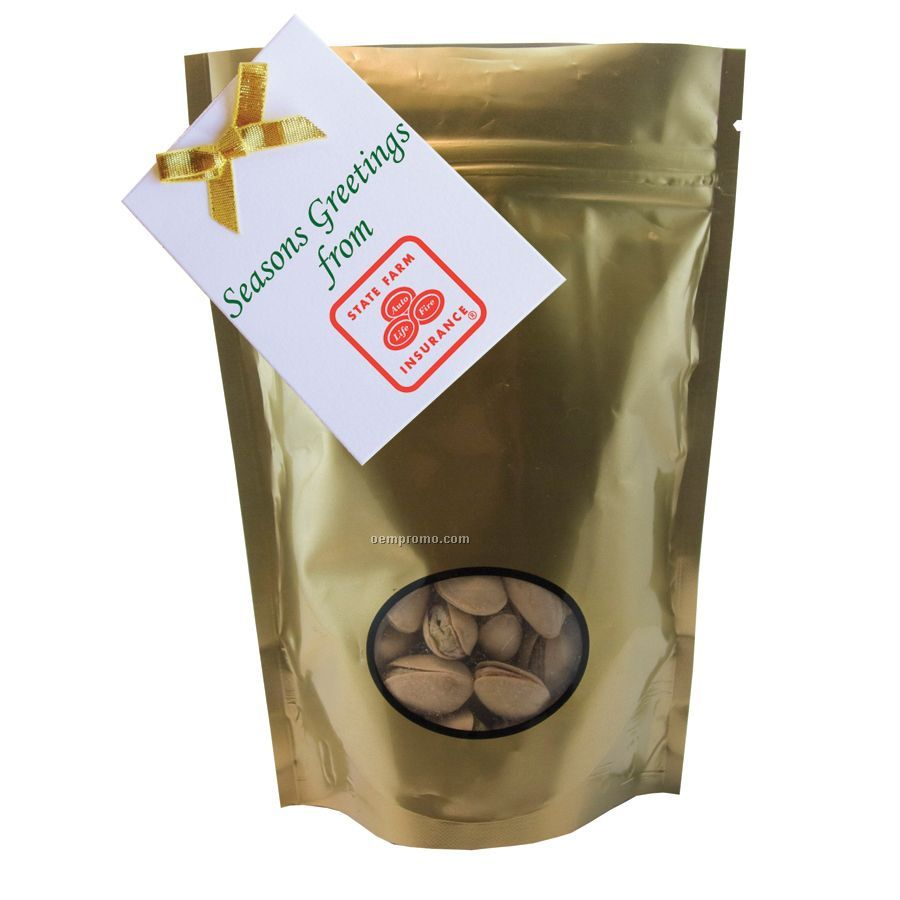 Gold Window Bag With Pistachios