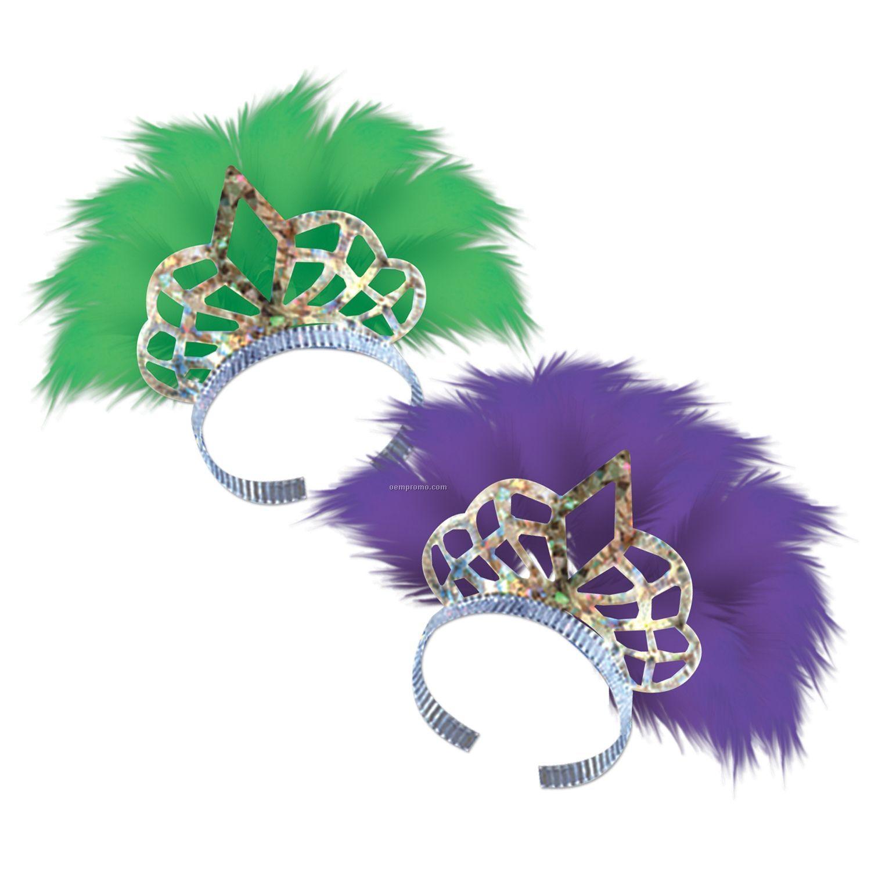 Mardi Gras Feathered Tiaras