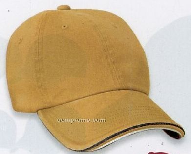 Port Authority Signature Double Piping Sandwich Bill Cap