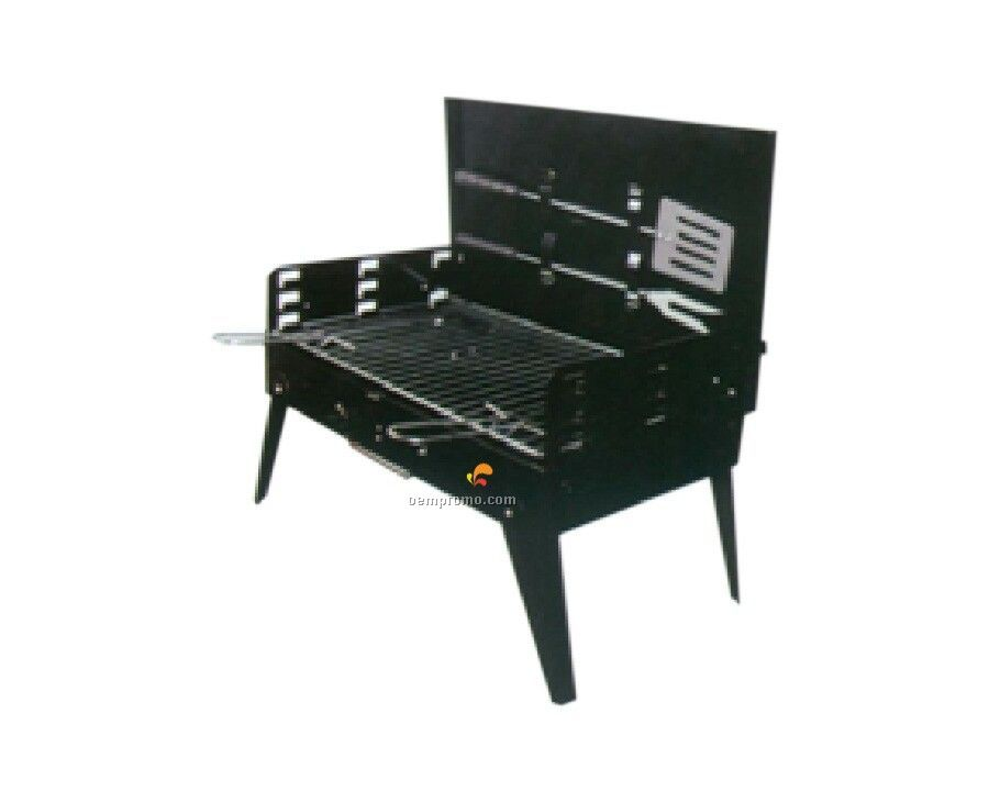 Portable W/Utensils Barbecue Grill