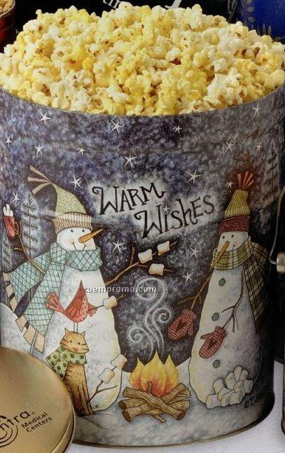 3-1/2 Gallon Caramel Designer Popcorn Tin