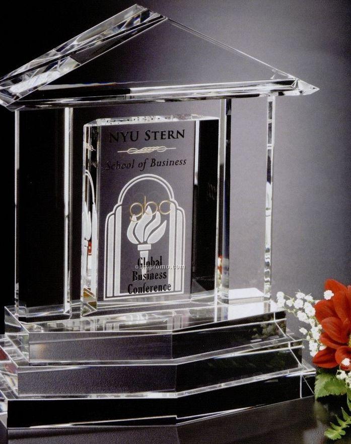 """Pristine Gallery Crystal Georgetown Award (7 1/4"""")"""