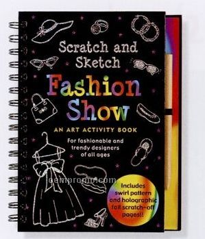 Scratch And Sketch Activity Book - Fashion Show