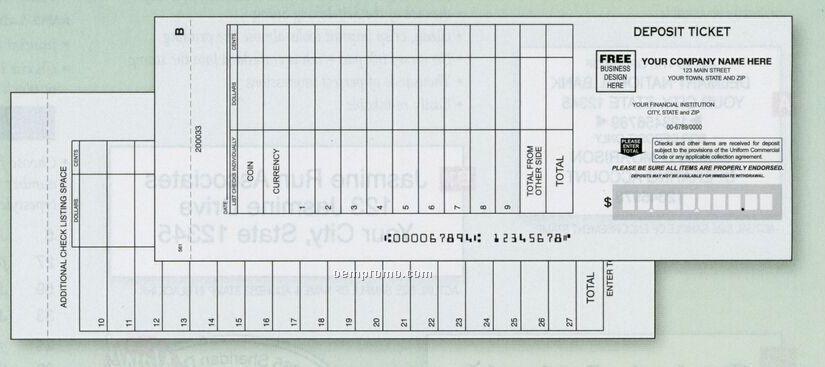 Wide Entry Deposit Ticket Book (2 Part)