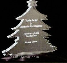 Acrylic Paperweight Up To 20 Square Inches / Christmas Tree 2