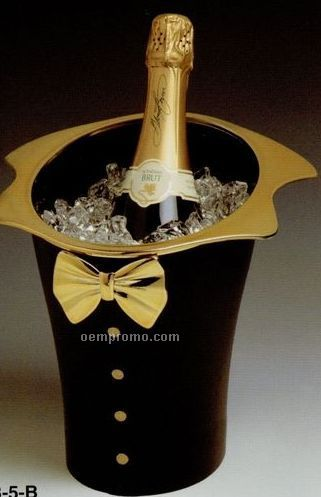 Black Tuxedo Wine Amp Champagne Bucket With Gold Plated