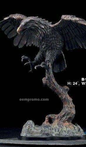Bronze Metal American Eagle Sculpture