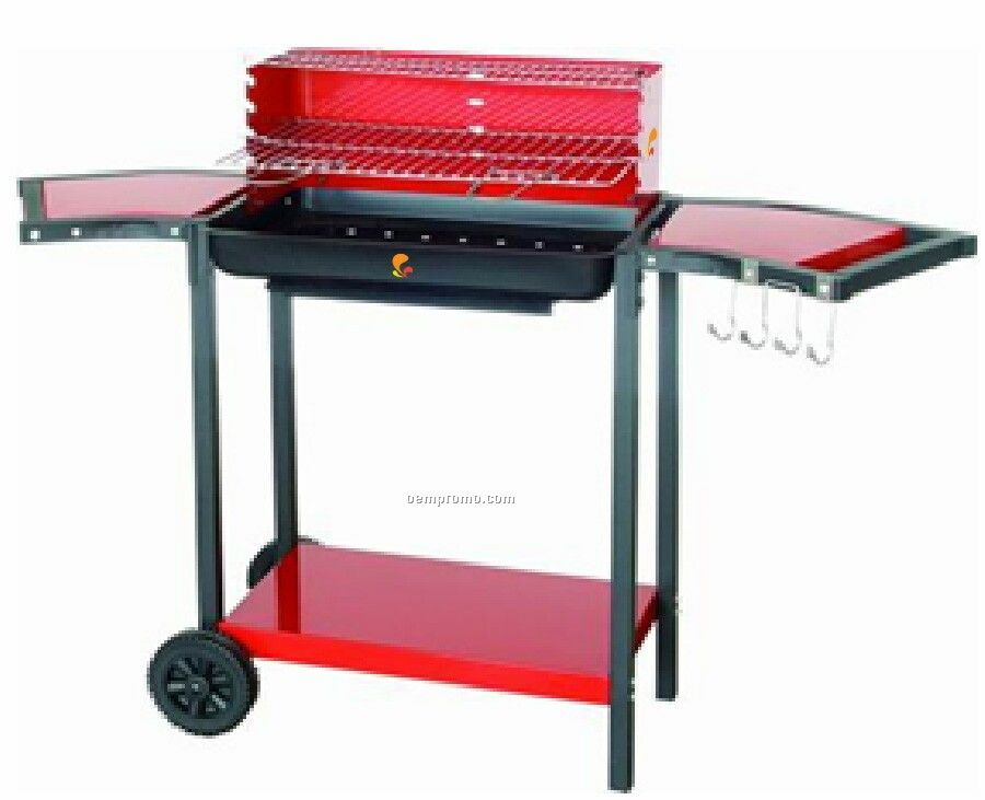 Curved Trays & Red Accents Barbecue Grill