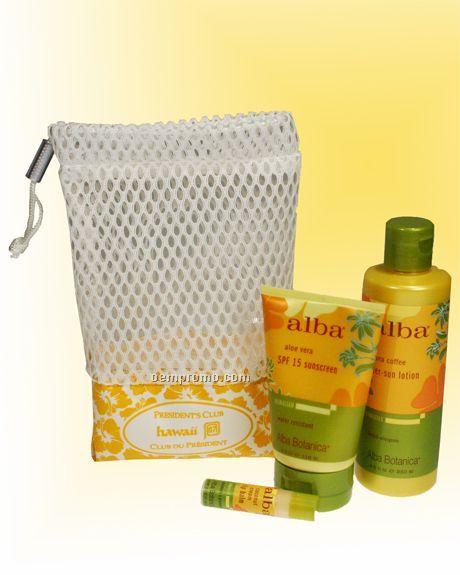 Mesh And Nylon Drawstring Bag (China)