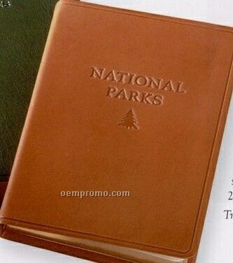 National Parks Travel Atlas W/ Traditional Premium Leather Cover
