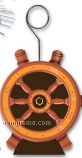 Ships Helm Photo/ Balloon Holder