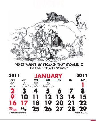 Super Size Cowboy Press-n-stick Calendar (After 8/1/11)