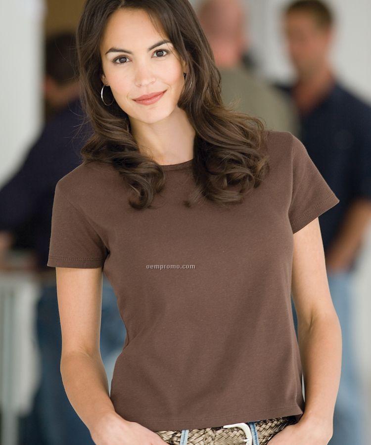Enza Ladies Scoop Neck Tee Shirt (S-2xl)