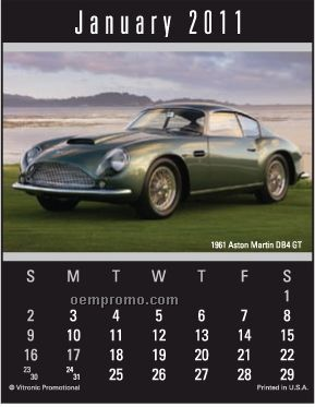 Super Size Cruisin' Cars Press-n-stick Calendar (After 8/1/11)