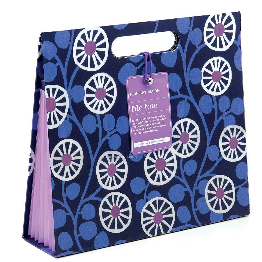 Midnight Bloom File Tote