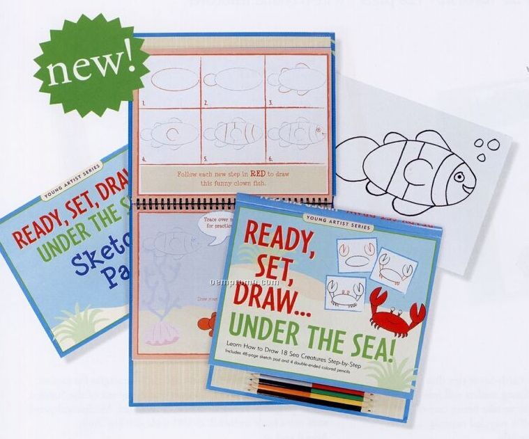 Ready, Set, Draw... Under The Sea Activity Book