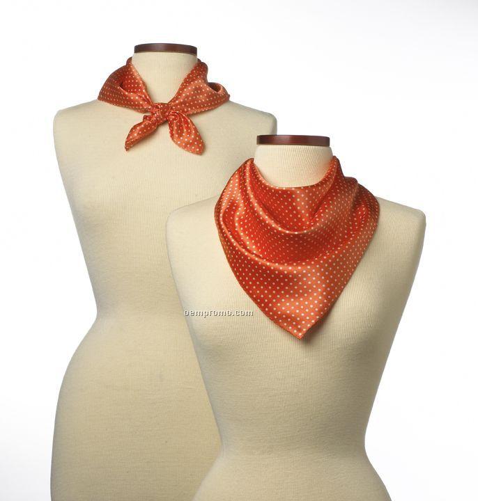 "Wolfmark Newport Silk Scarf - Orange (21""X21"")"