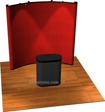 Economy Pop-up Curved Display (8')