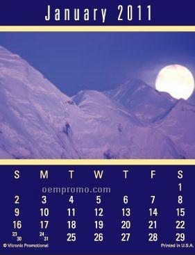 Super Size Scenic Press-n-stick Calendar (Thru 8/1/11)