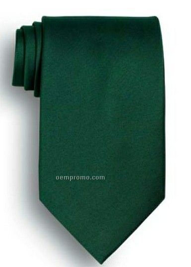 Wolfmark Solid Series Hunter Green Polyester Satin Tie