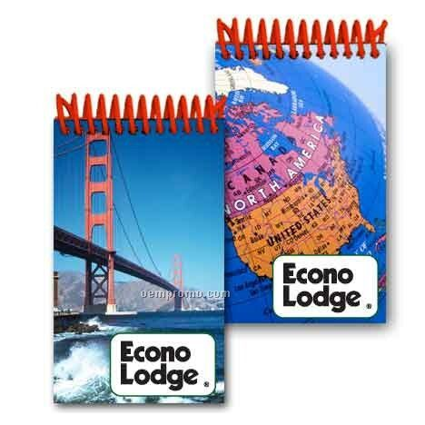 3d Lenticular Mini Notebook Stock/San Francisco/N. America Map (Imprinted)