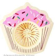 Cupcake White Pink Sinkster Sink Strainer