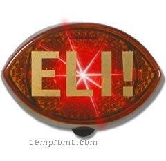 Football Light Up Reflector W/ Red LED