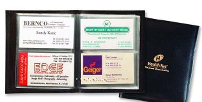 Junior Business Card File - Regency Cowhide Leather