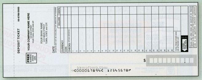 Maximum Entry Deposit Ticket Set (4 Part)