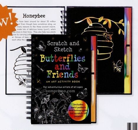 scratch and sketch activity book butterflies and friends - Good Touch Bad Touch Coloring Book