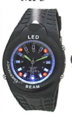 Cititec LED Plastic Quartz Watch (Black)