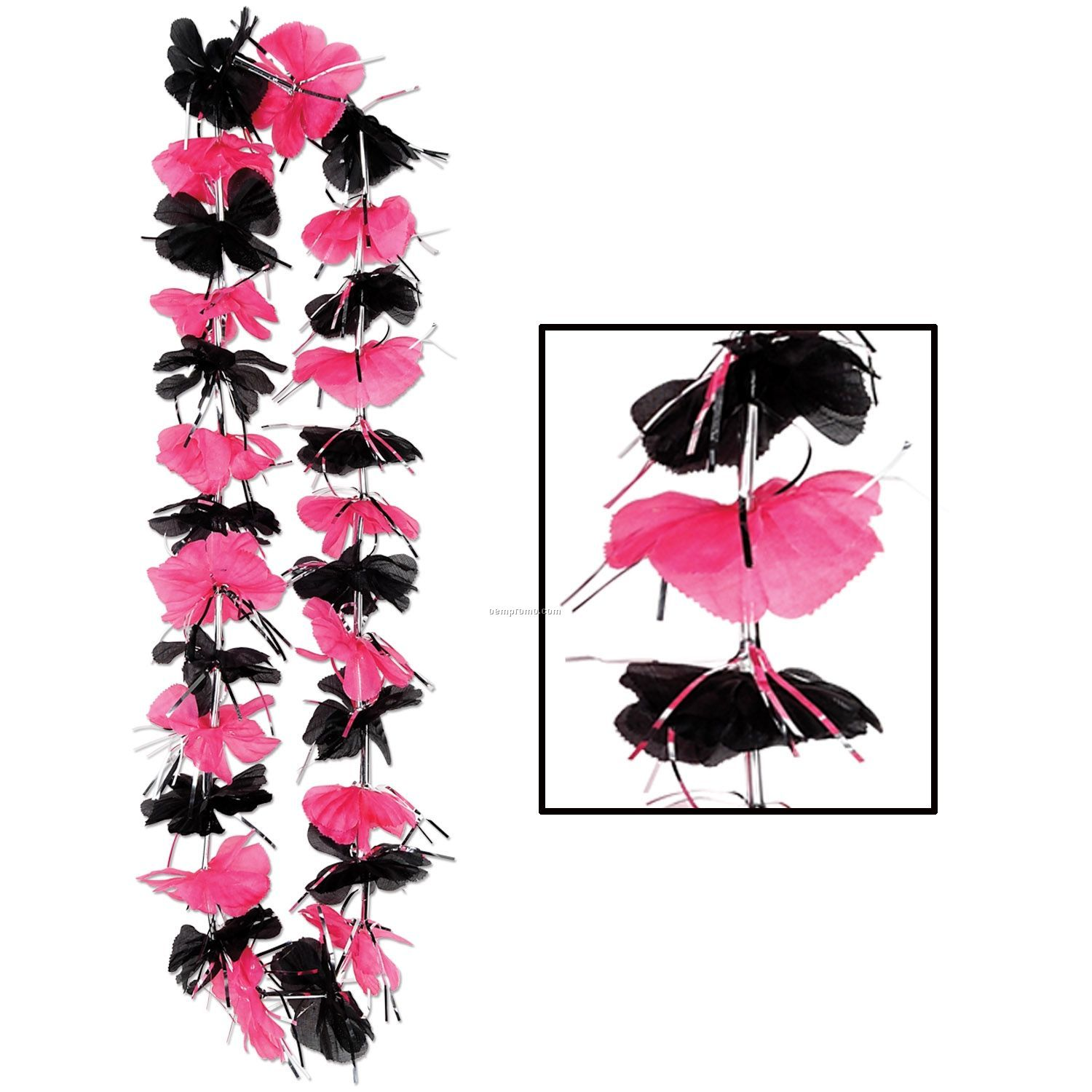 Drama Queen Pink & Black Party Lei