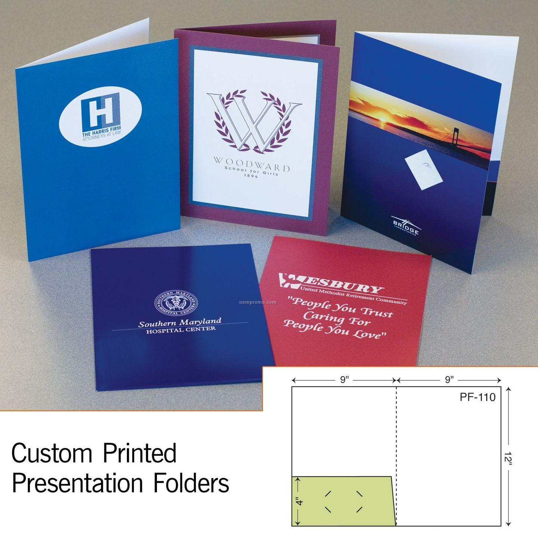 Presentation Folder W/ Glued Left Pocket (Printed 1 Color/1 Side)