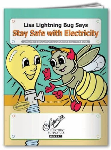 Action Pack Coloring Book W/ Crayons & Sleeve - Stay Safe With Electricity