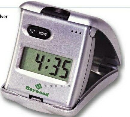 Poppy Press Up Alarm Clock W/ Backlight