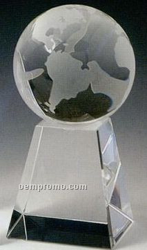 Small World Tower Award Globe W/ Tower Base