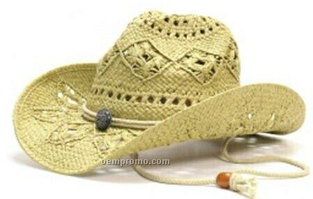 Stock Cowboy Hat With Drawstring